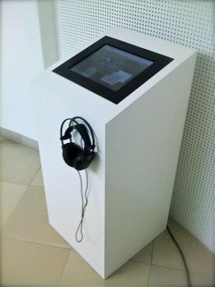Interfacedesign (mit julian Weidenthaler) und Produktion eines Touchscreen basierten Kiosksystems für die Landesmusikschule Linz