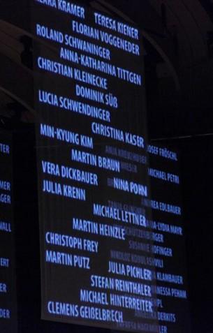 Projektionskonzept und Technische Abwicklung eines als Kooperation zwischen Kunstuni und Anton Bruckner Privatuniversität entstandenen Konzertabends mit visueller Untermalung im Brucknerhaus Linz